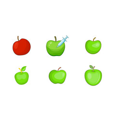 apple icon set cartoon style vector image