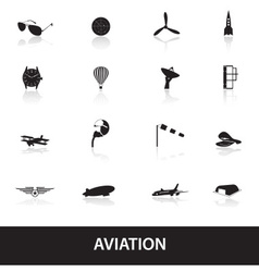 Aviation icons set eps10 vector