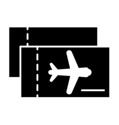 Aviation tickets solid icon avia tickets vector