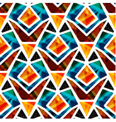 beautiful colored polygons seamless pattern vector image