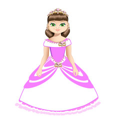Beautiful princess with diadem vector