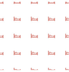 Bed icon pattern seamless white background vector