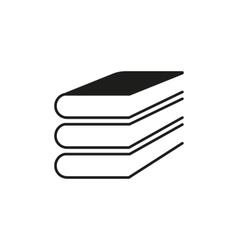 Book icon design Library symbol web vector