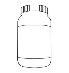 Bottle of nutritional supplements vector
