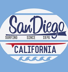 California San Diego typography t-shirt Printing vector