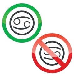 Cancer permission signs vector