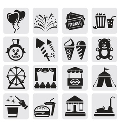 Carnival icons vector