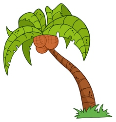 cartoon palm three vector image