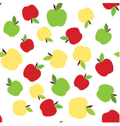 Colorful apple pattern vector