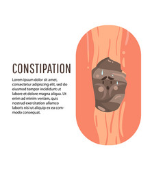 Constipation symptom health care and medical vector