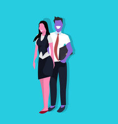 couple business man woman standing together vector image