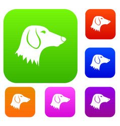 Dachshund dog set collection vector