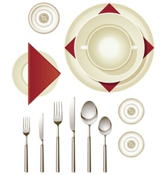 Dinnerware vector