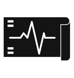 Electrocardiogram icon simple style vector