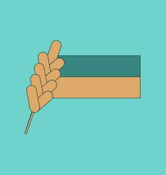 flat icon on background ukrainian flag vector image
