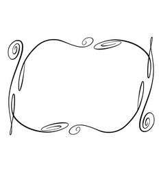 Flourish frame rectangle with squiggles vector