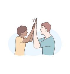 Friendship informal greeting concept vector