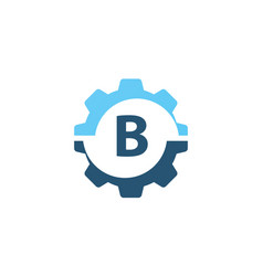 Gear solution logo initial b vector