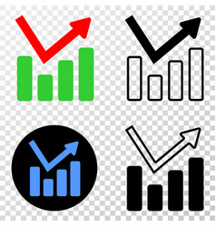 graph chart eps icon with contour version vector image