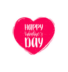 hand lettering phrase happy valentines day vector image