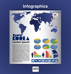 Infographics map of south korea eps10 vector