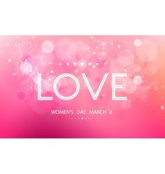 International Womens Day on March 8 vector image