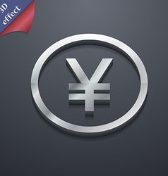 Japanese Yuan icon symbol 3D style Trendy modern vector image