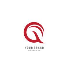letter q line logo vector image
