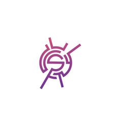 Logo design letter s spark vector