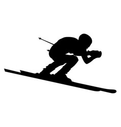 Male alpine skier vector