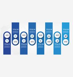 modern business horizontal timeline process chart vector image