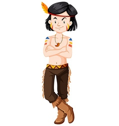 Native American Indian boy vector