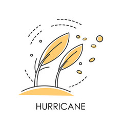 Natural disaster hurricane on coast wind storm vector