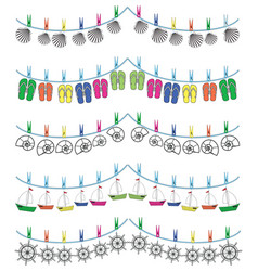 Nautical holiday bunting vector