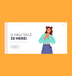 New sale is here landing page template astonished vector
