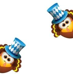 Oktoberfest Card Design Template vector image