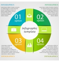 Pie chart infographic template vector image