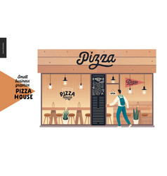 Pizza house - small business graphics - restaurant vector