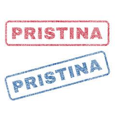 Pristina textile stamps vector