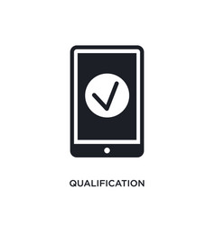 Qualification isolated icon simple element from vector