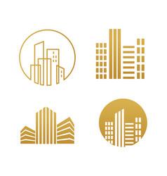 Real estate logo building development set of vector
