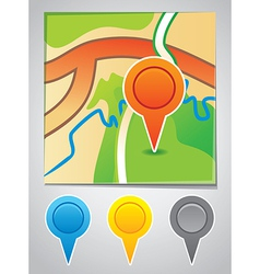 Road map markers vector