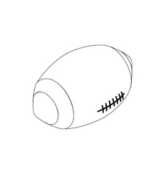 Rugby ball icon isometric 3d style vector
