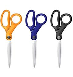 Scissors color vector