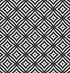 Seamless monochrome curved rectangle pattern vector