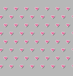 seamless pattern with beautiful hearts vector image