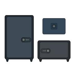 Set color contour safes various shapes vector