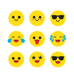 set of emoticons emoji vector image