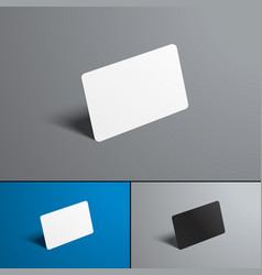 set of mock-ups for a bank and gift card isolated vector image