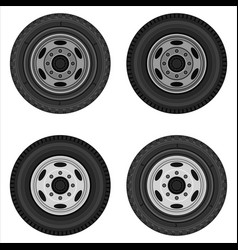 set of wheels of the truck vector image
